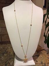 Nadri 'Liberty' Cubic Zirconia Long Pendant Necklace Gold Tone