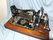 """C1930 Vickers Hand Crank Sewing Machine """"Machine Guns to Sewing Machines"""""""
