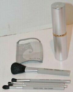 Mary Kay VINTAGE BRUSH SET in SILVER TUBE 6 Piece NEW ~ Fast Shipping!!!