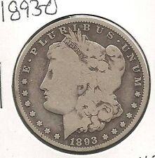 1893-O Morgan Dollar : Very Good +