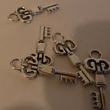Key charm silver metal cake topper or decorative crafts hang anywhere even a bq