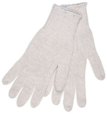 One Lot of 4 Dozen Pairs of White String Knit Work Gloves - Size: Large