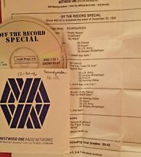 RADIO SHOW: OFF THE RECORD 12/30/96 SOUNDGARDEN & KORN FEATURES