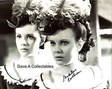 MARY & MADELEINE COLLINSON signed photo (by both) B&W - TWINS OF EVIL - D8151