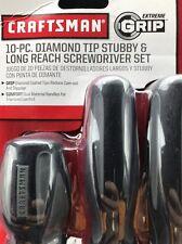 Craftsman Extreme Grip 10-Pc. Diamond Tip Screwdriver Set NEW Not 6 Or 14, 10!