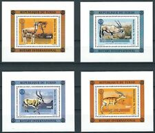 Tschad - Rotary International Huftiere 4 Blöcke postfrisch 1996 Mi. 1448-1451