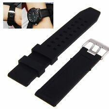 1x 23mm Silicone Rubber Black Watch Band Strap Bracelet For Luminox Replacement