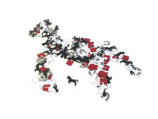 Horse birthday party table confetti-black white horse themed party ideas