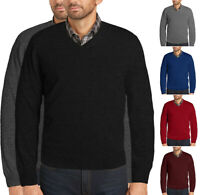 Men's Premium Microfiber Slim Fit Dress V-Neck Casual Pullover Sweater
