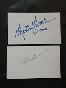 PAT SUMMERALL MONDAY NIGHT FOOTBALL NY GIANTS AUTOGRAPHED SIGNED INDEX CARD 3X5