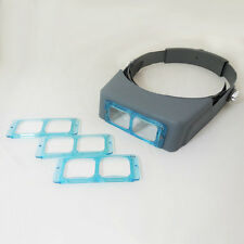 1.5X 2X 2.5X 3.5X Optivisor Headband Magnifier Head Magnifying Glass 4 Lens