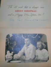 Vintage 1950's Mid-Century Photo Studio Merry Christmas Photocraft Card