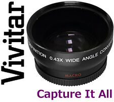 HD4 Optics Vivitar Wide Angle With Macro Lens For Canon EOS Rebel T1i T2i