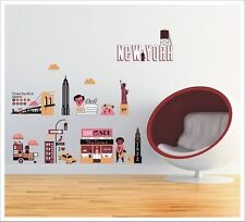 Kids Removable Vinyl Wall Stickers - City of New York SA-12-058