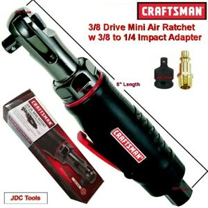 CRAFTSMAN 3/8 DRIVE MINI AIR RATCHET WRENCH  w 3/8 to 1/4 Impact Adapter - 1/4