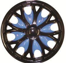 VW UP 15 Inch Black Blue Wheel Trims (2011-2016)