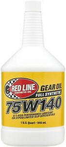 Red Line 75W140 Voll Synthetisch Rennen / Rally Getriebe Öl & Differential