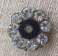 Small Rhinestone  Scatter Pin Brooch Estate Jewelry Mid Century Accessory