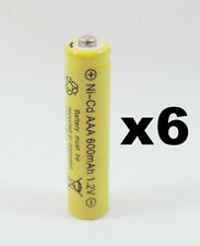 6 pcs Rechargeable NiCd AAA 600mAh Ni-Cad Batteries for Solar-Powered Light B6