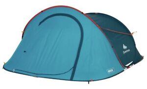New Decathlon Quechua 2 Second, 3 Person Waterproof Pop-Up Camping Tent 8lb