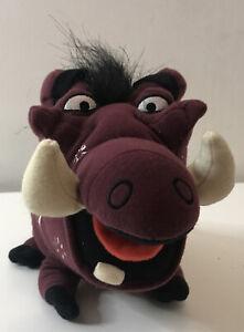 """Disney Lion King Broadway Musical Pumbaa Plush Soft Toys Warthog Bean Bag 8"""""""