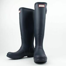 NIB HUNTER Navy Original Tour Tall Rain Boots Shoes US 6 UK 4 EU 37