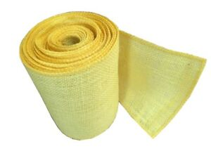 """6"""" Burlap Ribbon 10 Yard Roll With Sewn Edge - 27 Color Choices"""
