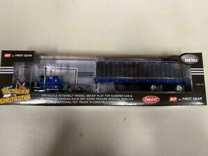 "DCP 69-0567 ""Blue Leasing"" Peterbilt 359 1:64 Die-cast Promotions First Gear"