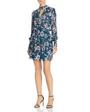 Parker | Robyn Smocked Floral Dress | Blue | M