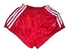 adidas vintage Shorts Gr. D5 M Sporthose shiny Nylon Sprinter rot 80s 80er CS3