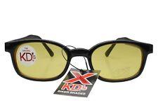 X KD's Sunglasses Original Biker Shades Motorcycle Black Yellow 10112