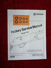 Crosman 760 Rifle Two (2) O-Ring Seal Kits + Factory Service Manual +  Guide
