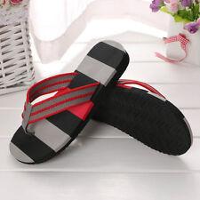 Summer Slippers EVA Man Thong Stripe Flip Flop Sandals Beach Home Flats Shoes AU