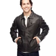 New Lucky Brand Washed Distressed PU James Dean Jacket Size Small
