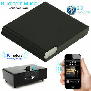 Music Audio Bluetooth V4.1 Receiver Adapter 30 Pin Jack Dock Speaker For iPhone