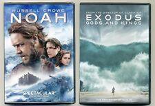 Two PG-13 2014 Biblical movies: NOAH, EXODUS Gods & Kings, new DVDs Crowe, Bale