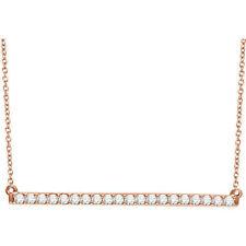 Diamante Barra 40,6 -45 , 7cm Collar en 14k oro rosa ( 1/2 Ct. TW