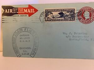 US Airmail Scotts #U432 blue entire, die #1, with C10, Slogan Cancel, see pics