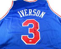 ALLEN IVERSON / AUTOGRAPHED PHILADELPHIA 76ERS CUSTOM BASKETBALL JERSEY / COA