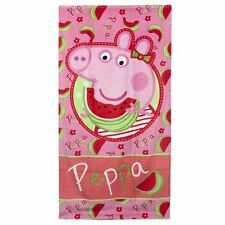 Official Peppa Pig Children Kids 140 x 70 cm Cotton Beach Towels - Multicolored