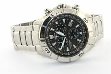 Citizen Eco-Drive Chronograph Brown Dial Stainless Steel Watch AT0810-55X