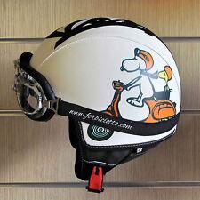 Casco per Lambretta Moto Guzzi Vintage in pelle Snoopy in Vespa Charlie Brown