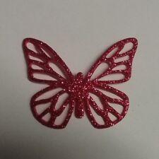 10 Farfalle rosse in fommy glitterato confezionamento, fai da te, decorazione