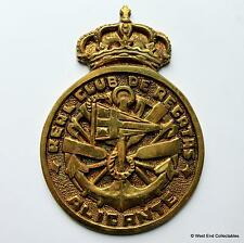 Real Club De Regatas Alicante - Brass Sailing Yacht Tampion Plaque Badge Crest