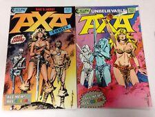 Axa Comics #1 #2 E.B. Romero with Chuck Dixon dialogue Sheena Red Sonja inspired