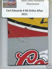 CARL EDWARDS 2011 #99 ORTHO AFLAC FORD AUTHENTIC NASCAR RACE USED SHEETMETAL #5