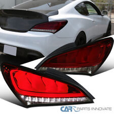 Fit 10-16 Genesis Coupe Red Smoke LED Sequential Signal Tail Brake Lights Pair