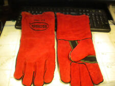 Boss Split Leather Welder Red Fully Lined #1JL0992K SIZE LARGE