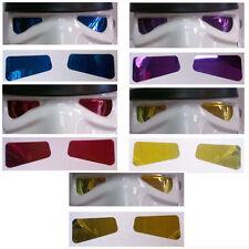 Lentes de película de espejo de casco X 5 pares de color compatible con trajes stormtrooper