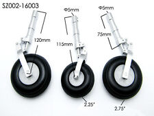 RC plane Alloy Undercarriage Anti-vibration Landing Gear w/3pcs PU Plastic wheel